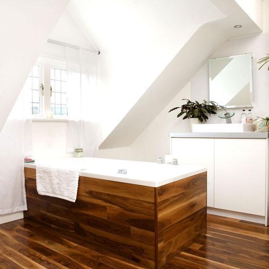 Új irányvonal: Faburkolat a fürdőszobában