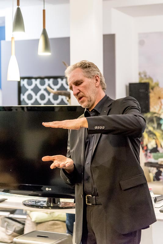 Andreas Enslin, a Miele Design Center vezetője