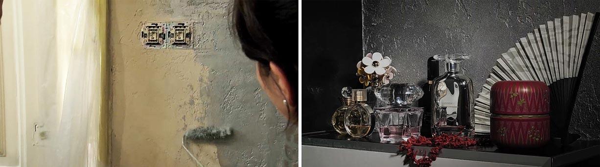 Antik kő hatás, metáleffekt falfestéssel