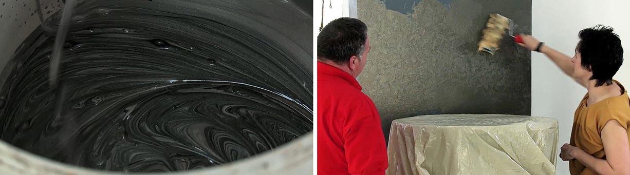 Metáleffekt hatású falfesték