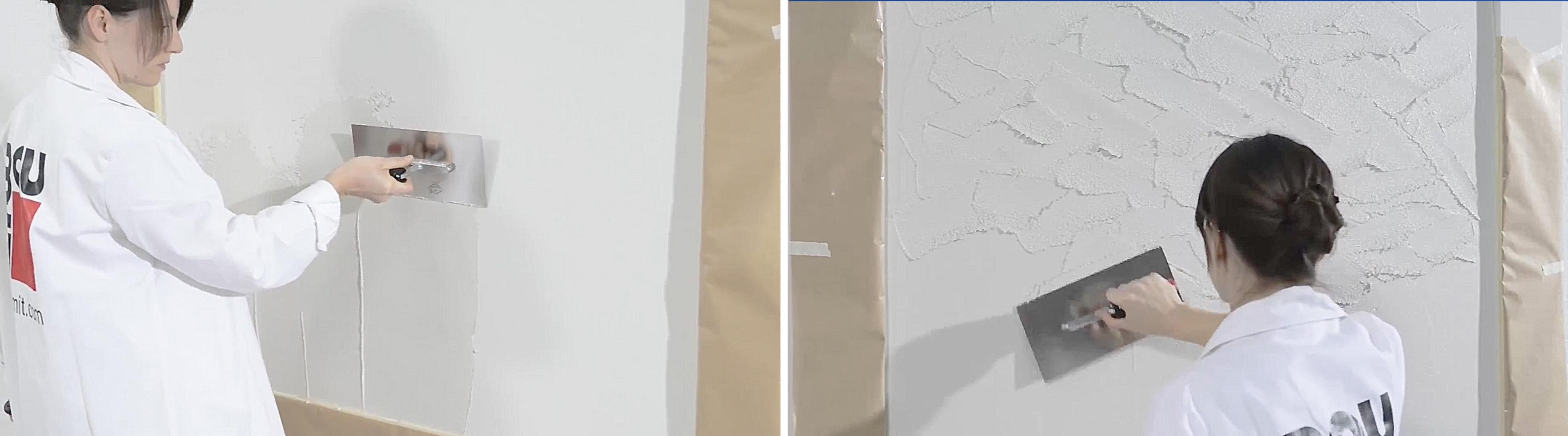 Húzott technika alkalmazása a falakon