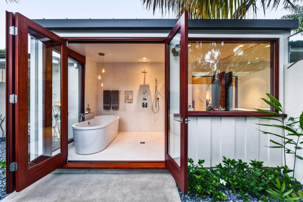 Konténer ház fürdőszobája