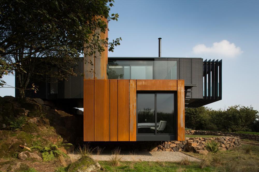Konténer ház minimalista stílusban