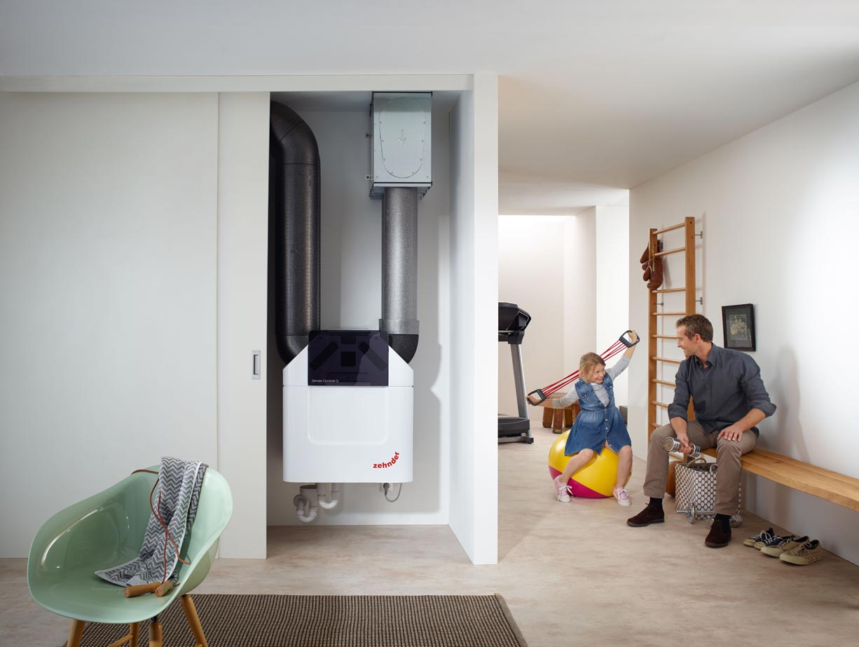 Zehnder hővisszanyerős szellőztető rendszer