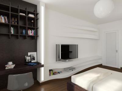 Fehér-barna hálószoba - háló ötlet, modern stílusban