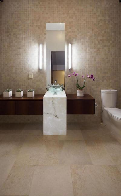 Üvegmosdós fürdő - fürdő / WC ötlet, modern stílusban