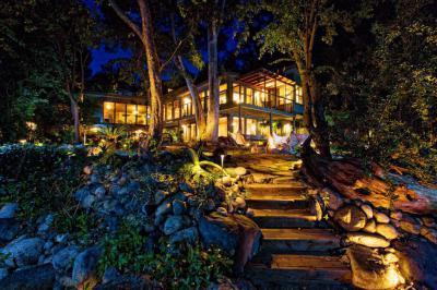 Éjszakai fények - kert / udvar ötlet, modern stílusban