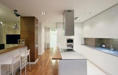 Minimál konyha modern elemekkel - konyha / étkező ötlet, minimál stílusban