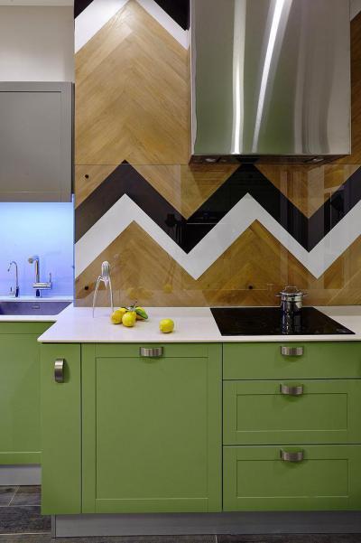 Zöld konyhabútor - konyha / étkező ötlet
