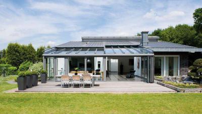 Egyedi teraszbeépítés - erkély / terasz ötlet, modern stílusban