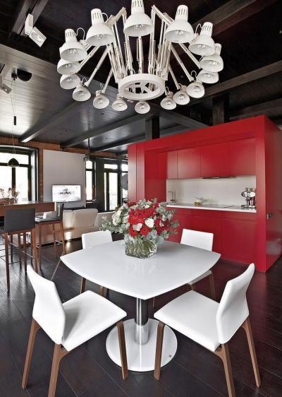 Nappali mobil konyhával - konyha / étkező ötlet, modern stílusban