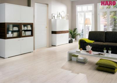 Haro laminált padló - nappali ötlet, modern stílusban