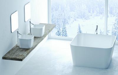Marmorin fürdőszoba - fürdő / WC ötlet, minimál stílusban