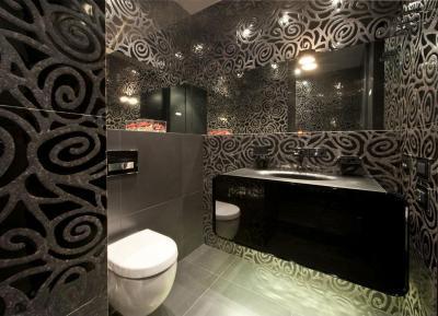 Motívumos fürdőszoba - fürdő / WC ötlet