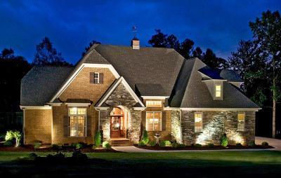 Takaros kis ház este - külső továbbiak ötlet