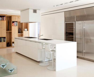 Fehér konyhasziget - konyha / étkező ötlet