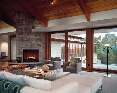 Nyitott terek - nappali ötlet, modern stílusban