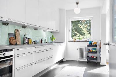 Modern konyha - konyha / étkező ötlet, minimál stílusban