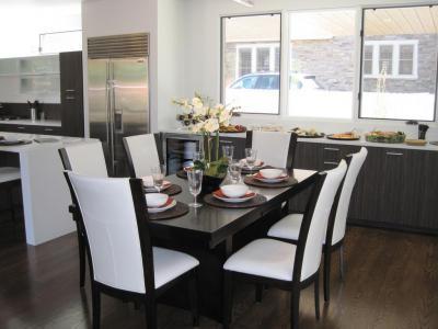 Készülődés a vacsorára - konyha / étkező ötlet, modern stílusban