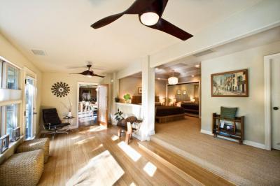 Nappali hálószobával - nappali ötlet, modern stílusban