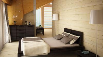 Faház hálószobája - háló ötlet, modern stílusban