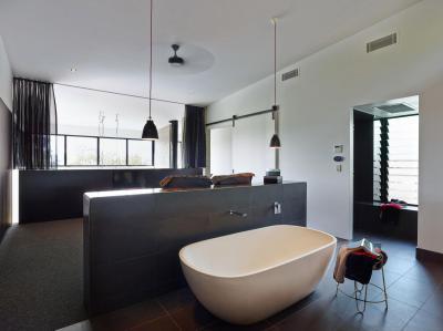 Markáns fürdőszoba - fürdő / WC ötlet, modern stílusban