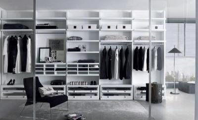 Gardrób szoba - belső továbbiak ötlet, modern stílusban