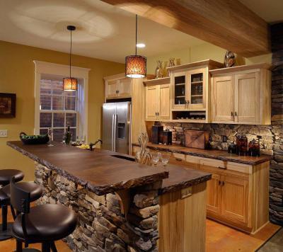 Rusztikus konyha - konyha / étkező ötlet, rusztikus stílusban