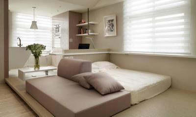 Egybe nyitott tér - nappali ötlet, modern stílusban