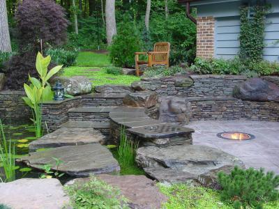 Kerti lépcső - kert / udvar ötlet, modern stílusban