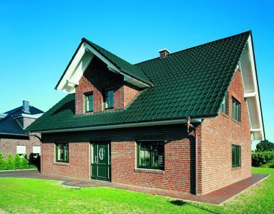 CREATON FUTURA kerámia tetőcserép NOBLESSE sötétzöld üvegmázas - tető ötlet