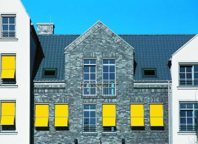 CREATON DOMINO kerámia tetőcserép NUANCE palaszürke engóbozott - tető ötlet, modern stílusban