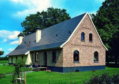 CREATON PREMION kerámia tetőcserép NUANCE matt fekete engóbozott - tető ötlet
