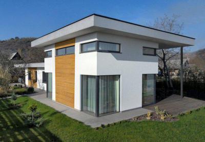 Családi ház homlokzata - homlokzat ötlet, modern stílusban