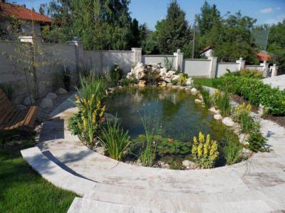 Családi ház kertje - kert / udvar ötlet, modern stílusban
