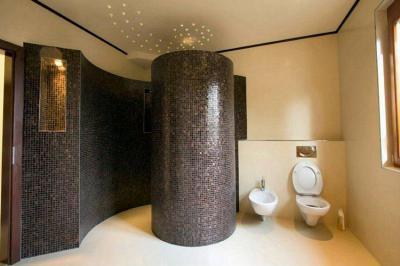 Családi ház belső tere - fürdő / WC ötlet, modern stílusban