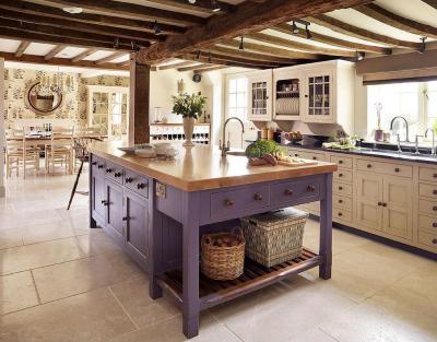 Modern konyha - konyha / étkező ötlet, rusztikus stílusban