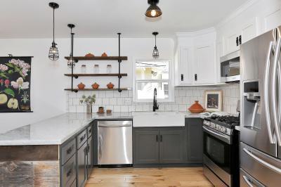 Ipari stílusban - konyha / étkező ötlet, modern stílusban