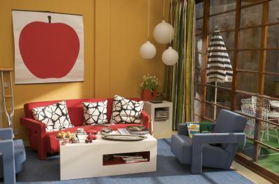 Nappali Rietveld kanapéval - nappali ötlet