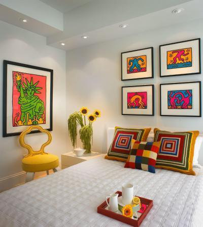 Vidám Pop art hálószoba - háló ötlet, modern stílusban