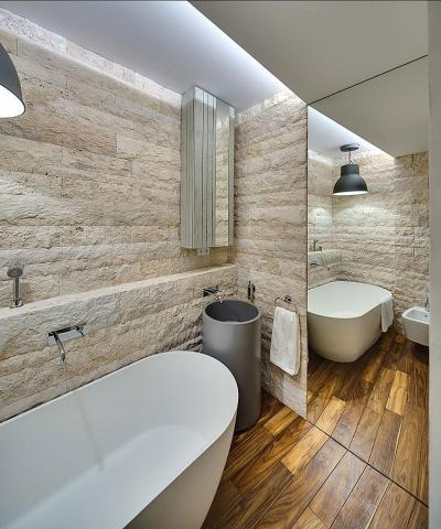 Látványos fürdőszoba - fürdő / WC ötlet