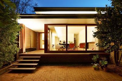 Nagy ablakok - homlokzat ötlet, modern stílusban