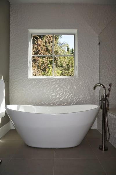 dekoratív 3d falburkolat - fürdő / WC ötlet, modern stílusban