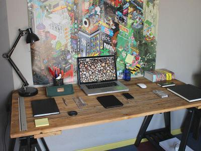 Kreatív dolgozószoba - dolgozószoba ötlet, modern stílusban