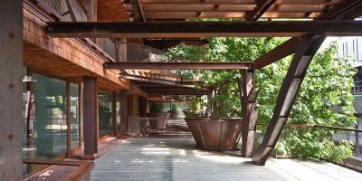 rusztikus terasz látszógerendákkal - erkély / terasz ötlet, rusztikus stílusban