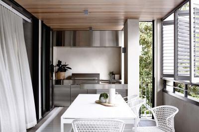 konyha az erkélyen - konyha / étkező ötlet, modern stílusban