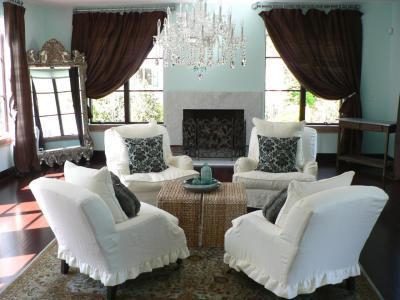 Klasszikus francia vidéki nappali - nappali ötlet, klasszikus stílusban