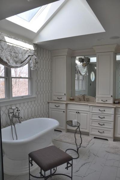 Elegáns fürdőszoba - fürdő / WC ötlet, klasszikus stílusban