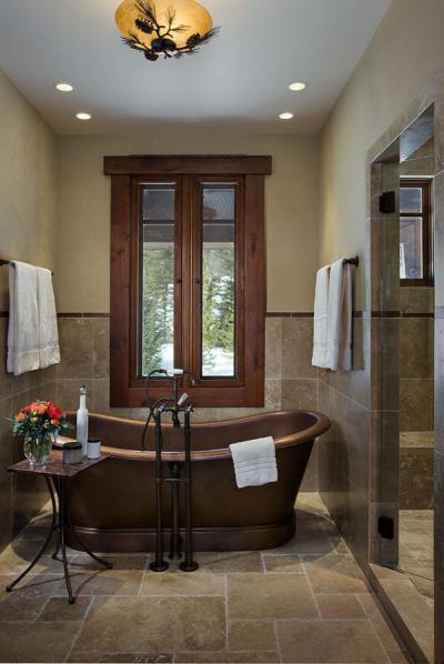 Réz kádas fürdőszoba - fürdő / WC ötlet, klasszikus stílusban