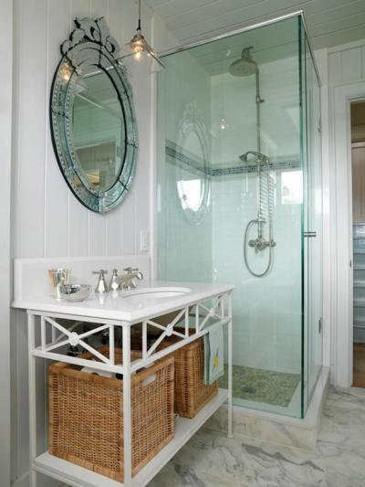 Fürdő üveg zuhanykabinnal - fürdő / WC ötlet